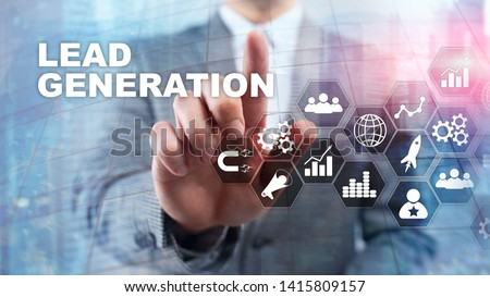 Lead Generation Analysis Business Research Interest Concept. Marketing Strategy Financial Technology.