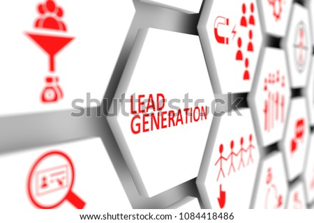 Lead generation concept cell blurred background 3d illustration