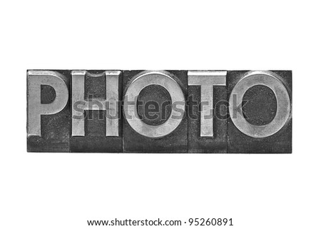 lead letter Photo on white background