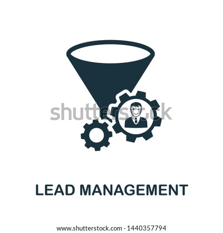 Lead Management icon illustration. Creative sign from crm icons collection. Filled flat Lead Management icon for computer and mobile. Symbol, logo graphics.