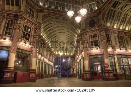 Leadenhall Market at Night Time
