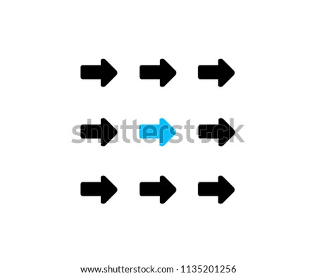 leader moving with team as a compact group. business concept. illustration design graphic isolated over white