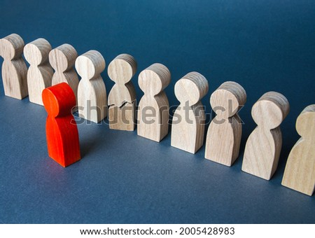 Leader puts psychological pressure on the subordinate. Stress, nervous breakdown. Burnout at work. Excessive demands, discrimination and violation of labor rights. Aggressive work environment, tyranny Foto stock ©