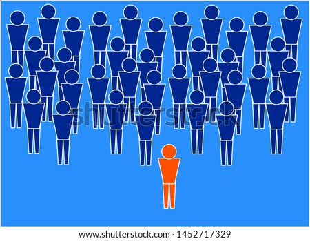 Leader. The picture shows a leader who stands in front of his team and can lead it. These leaders are the leading forces of society.