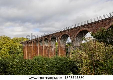 Leaderfoot Viaduct disused railway viaduct- Melrose, Scotland, UK Photo stock ©