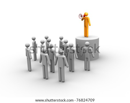 Leadership. - stock photo