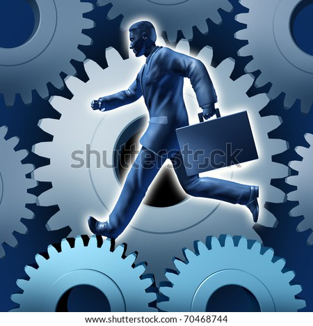leadership business symbol economy function gears of business technology innovation strategy