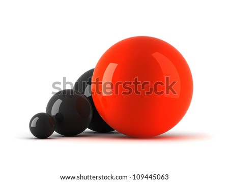 Leadership concept illustration - balls