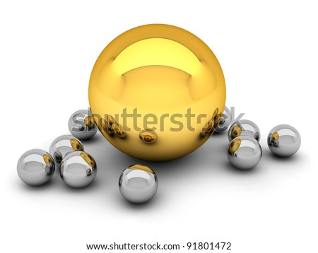 Leadership concept illustration - balls