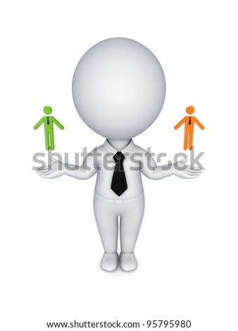 Leadership concept.Isolated on white background. 3d rendered.