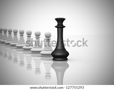 Leadership concept - This is a 3d render illustration