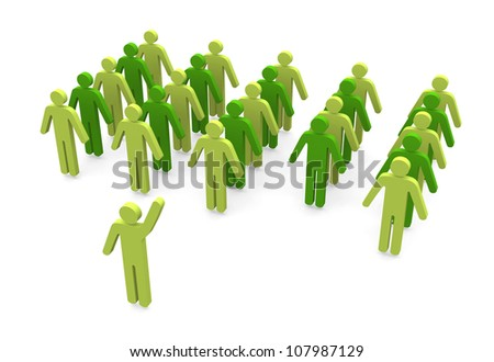 leadership concept - three dimensional illustration on white background