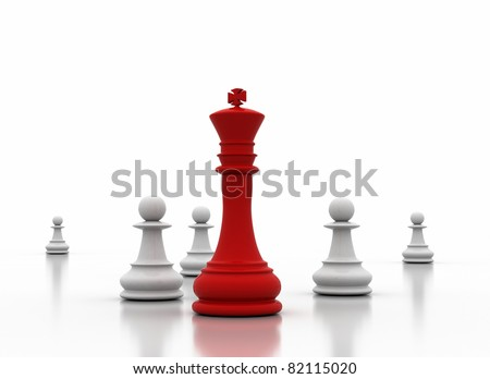 Leadership illustration on white background - stock photo