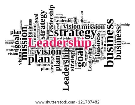 Leadership in word cloud