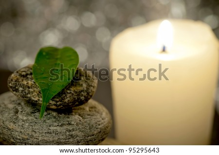 Leaf and candle
