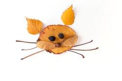 leaf animals clip art, diy, land art and fall activities with kindergarten children