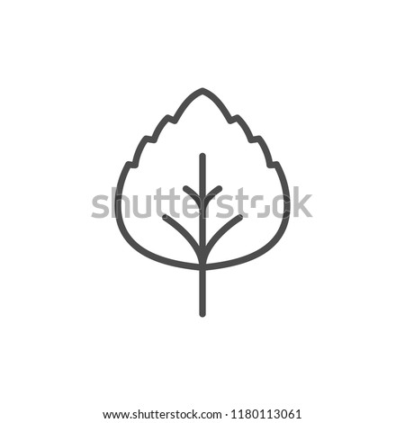 Leaf line icon isolated on white