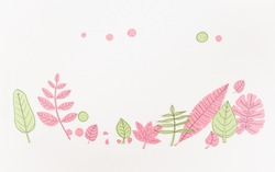 Leaf Set. Hand-drawn decorative elements, doodle floral elements. Black line ink hand drawn art. White background ready for copywriting. Perfect for invitations, greeting cards, posters, prints.