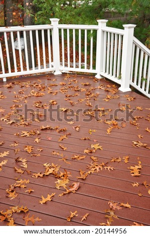 Leafs on the deck