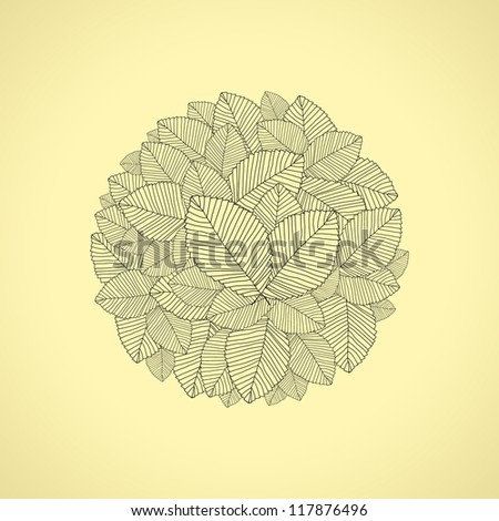 leafs round - stock photo
