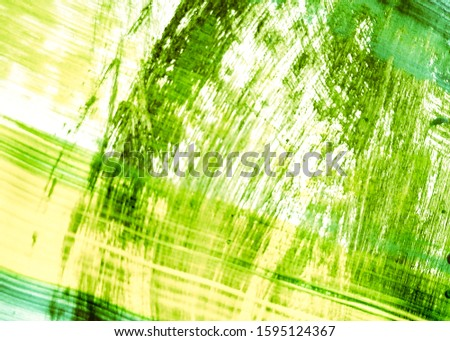 Leafy Color Sunny Dirty Art Painting. Grassy Color Mustard Acrylic Texture. Lime Green Yellow Deep Nature Greenery. Organic Color Summer Acrylic Painting. Natural Green Mustard Acrylic Stroke.