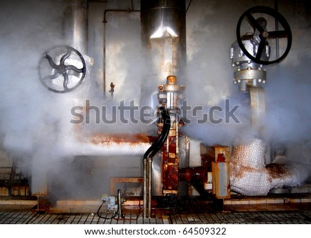 Leakage of steam in a control station in a power plant
