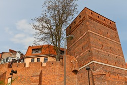 Leaning Tower (circa XIV c.) of Torun (former Thorn) town, Poland. One of the most characteristic sites in the Old Town. UNESCO site