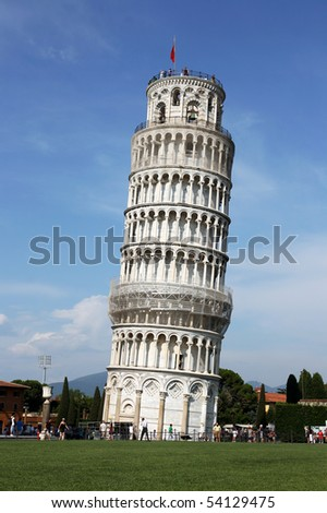 Leaning tower in Pisa, Italy.
