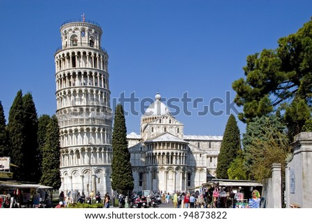 Leaning Tower of Pisa and Cathedral
