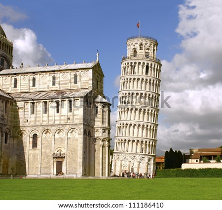 Leaning Tower of Pisa and Cathedral, Italy