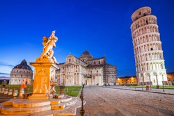 Leaning Tower of Pisa at night, Italy