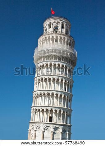 Leaning Tower of Pisa, Pisa Duomo Italy - stock photo