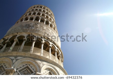 Leaning tower, Pisa Italy - stock photo