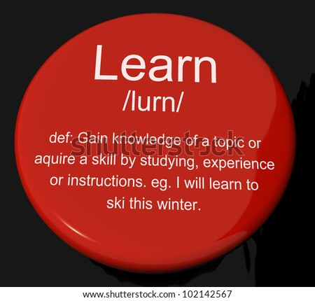 Learn Definition Button Shows Knowledge Gained And Study