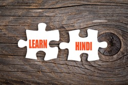 Learn Hindi - words on puzzle