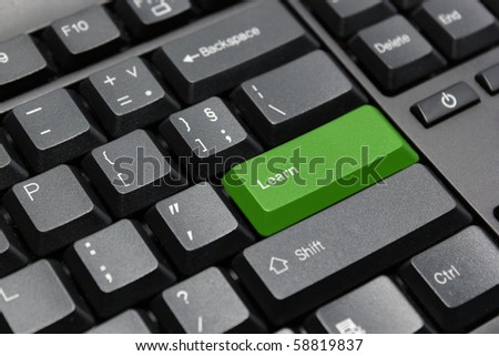 Learn key on computer keyboard