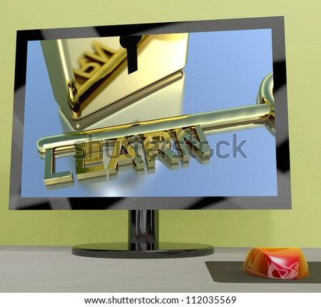 Learn Key On Computer Screen Shows Online Education