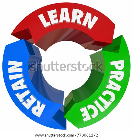 Learn Practice Retain Information Knowledge Education 3d Illustration