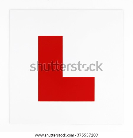Learner Plate on White Background
