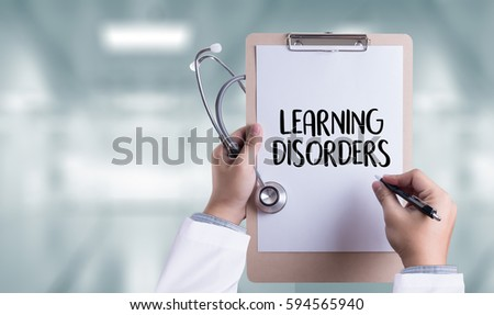 LEARNING DISORDERS ADHD medical Doctor concept