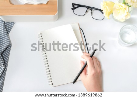 Learning to write office desktop scenes