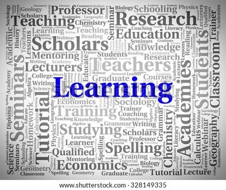 Learning Word Indicating Educated Studying And University
