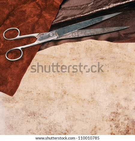 Leather and scissors