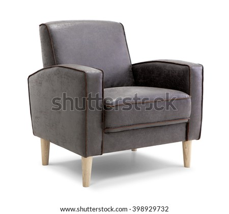 Leather Armchair #398929732