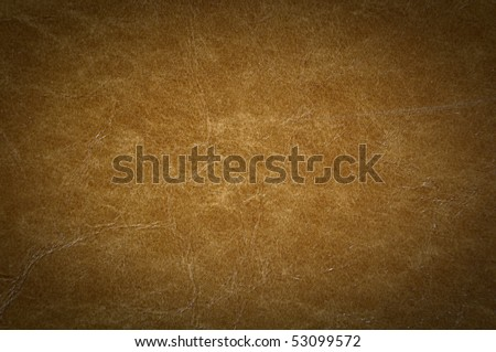 Leather Background Cracked with Dark Corners - stock photo