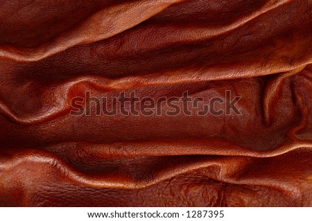 Leather background -texture - pattern, beautiful wrinkles on it