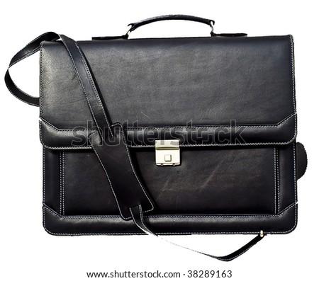 Leather bag corporate - black