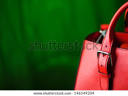 Leather bag. Fashion concept