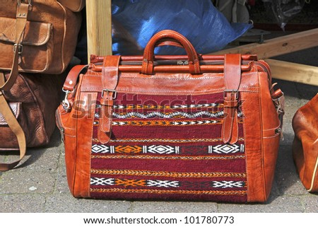 Leather Bag, Moroccan Handicraft Market, St. Anne's Square, Manchester, 1st-5th May