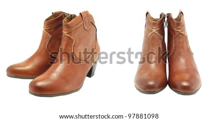 leather boots women's shoes.